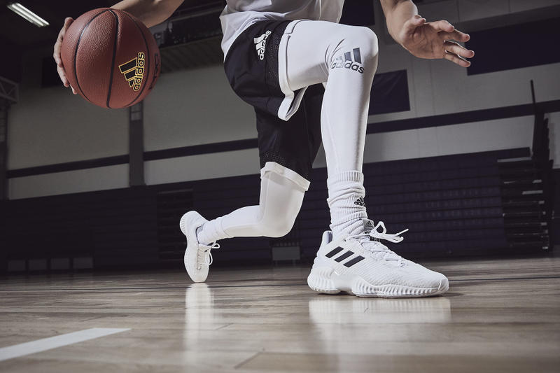 Basketball player in Adidas branding