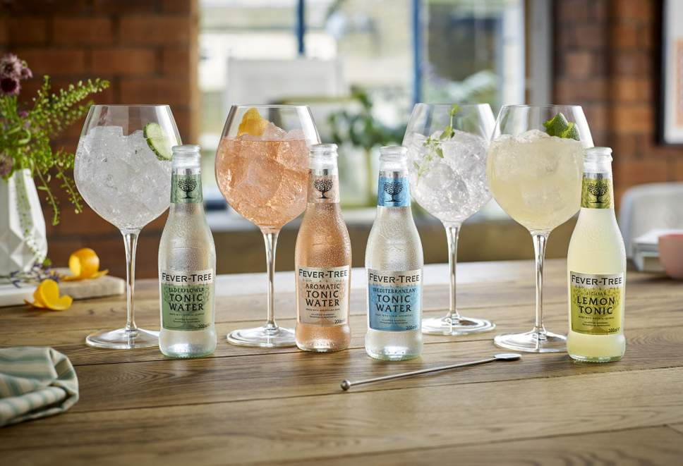 Fevertree tonic water mixed with gin