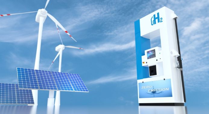 Hydrogen atoms cartoon