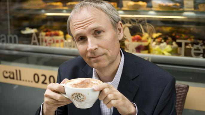 Chairman Luke Johnson in a Patisserie Valerie store