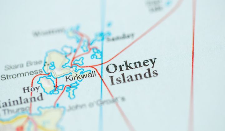 Map of Orkney Islands